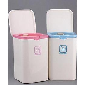Thùng đựng rác phòng ăn mini nội địa Nhật Bản - màu ngẫu nhiên