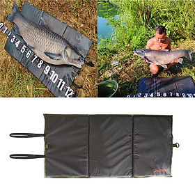"""Folding Coarse Carp Fishing Unhooking Mat Pads Outdoor Fishing Gear - 38"""" x 19"""""""