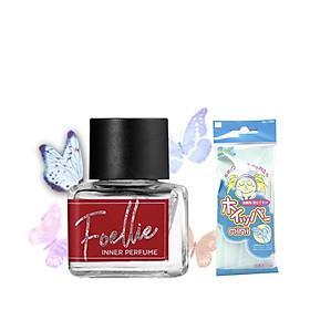 Nước Hoa Vùng Kín Foellie Eau De Bébé Inner Perfume (Màu đỏ) - Hương Gỗ Thanh Khiết + Tặng Kèm 1 Túi Lưới Rửa Mặt Tạo Bọt