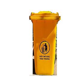 Hình ảnh Thùng rác nhựa 120L màu vàng