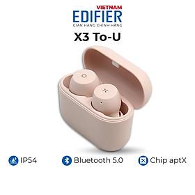 Tai nghe Bluetooth 5.0 EDIFIER X3 To-U Âm thanh Stereo - Chống nước IPX5 - Hàng chính hãng