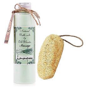 Muối massage sả chanh tặng xơ mướp -  Lemongrass Massage Salt (200g)