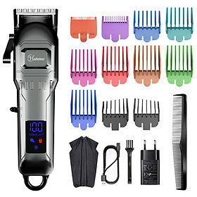 HATTEKER Electric Hair Clipper Professional Mens Hair Trimmer Baber USB Cordless Hair Machine Hairdressing Cape Set