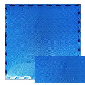 Thảm Xốp Cho Bé Trơn 60cmx60cm Vân Ô Vuông màu xanh dương
