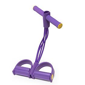 Fitness Pedal Puller Resistance Band 4 Tubes Elastic Rope Sit-up Pull-up Shoulder Arm Abdomen Waist Leg Gym Workouts