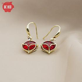 Bông tai hồ ly đỏ - Trang sức Bé Heo BHBT459