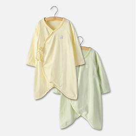 Hình đại diện sản phẩm Good boy baby clothes men and women baby summer jumpsuit newborn baby clothes romper butterfly clothes 2 pieces 0-3 months light green 052