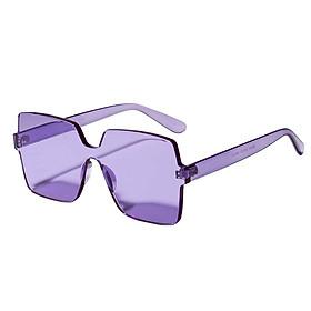 Women Rimless Square Sunglasses Retro Eyewear Sun Glasses Shades