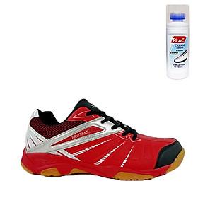 Giày cầu lông Promax 19001 màu đỏ - Tặng bình làm sạch giày cao cấp