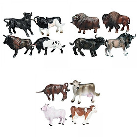 12pcs Cattle Figurine Simulated Bull Realistic Animals Cow Educational Toy