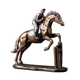 Tượng kỵ sỹ cưỡi ngựa decor để bàn