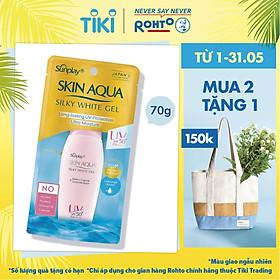 Gel Chống Nắng Dưỡng Da Trắng Mượt Sunplay Skin Aqua Silky White Gel SPF50, PA++++ (70g)