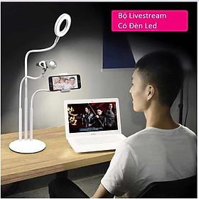 Bộ giá đỡ điện thoại livestream có đèn led