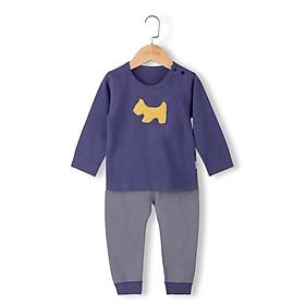 Bộ cotton len hình cún bé trai 1-5 tuổi
