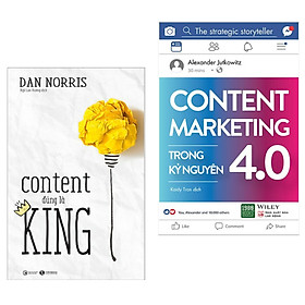 Combo Marketing: Content Đúng Là King + Content Marketing Trong Kỷ Nguyên 4.0 (Tặng kèm Bookmark Happy Life)