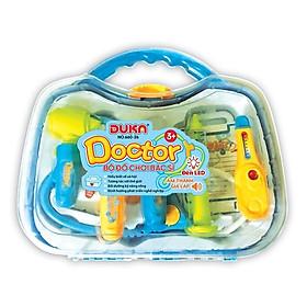 Bộ đồ chơi bác sĩ - Màu xanh có đèn báo (Quai xách tròn) 660-26