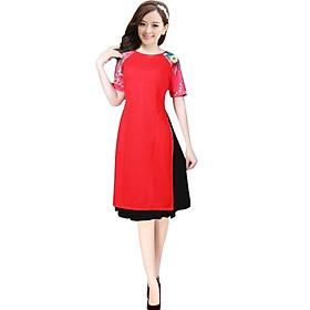 Áo dài nữ kèm chân váy Phối cánh tay đẹp