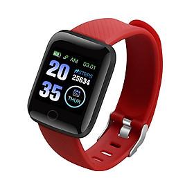 1.3-inch Touchscreen Smart Bracelet Sports Watch Waterproof Sport Fitness Tracker Blood Pressure Heart Rate Monitor Red