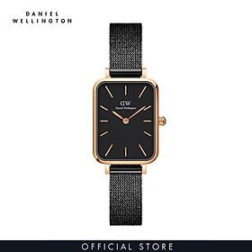 Đồng hồ Nữ Daniel Wellington dây lưới - Quadro Pressed Ashfield 20x26mm DW00100433