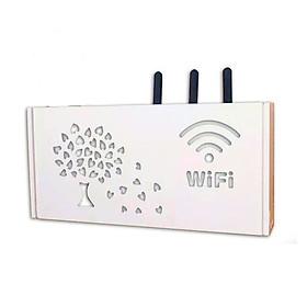 Kệ wifi treo tường hình Cây lá