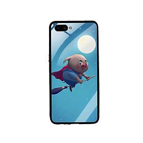 Ốp Lưng Kính Cường Lực cho điện thoại Oppo A3s - Pig 11