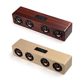 Loa gỗ Bluetooth W8 Hifi 12W Loa siêu trầm không dây Âm thanh nổi Chất liệu từ gỗ cao cấp, có 4 loa nghe nhạc cực hay  - Hàng Chính Hãng