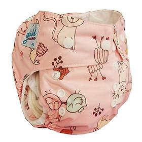 Bỉm vải Goodmama siêu chống tràn màu hồng
