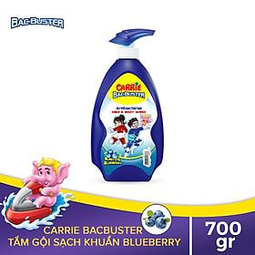 Sữa Tắm Gội Sạch Khuẩn Cho Bé Carrie BacBuster Blueberry 700g
