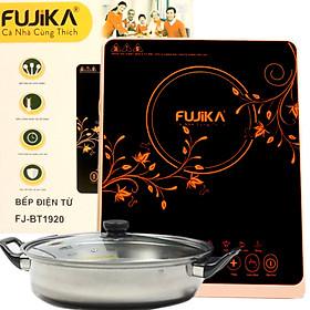 Bếp Điện Từ Đơn 2000W FUJIKA FJ-BT1920 Kèm Nồi Lẩu Inox Điều Khiển Cảm Ứng Mặt Kính Cao Cấp-Hàng Chính Hãng