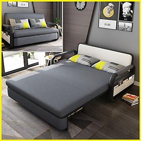 Giường Sofa Kiêm Ghế Sofa 1m90 x 1m61 Kèm Ngăn Chứa Đồ Đa Năng - Giường Sofa Gấp Gọn Khung Thép Cường Lực Cao Cấp, Giường Sofa Đa Năng Gấp Gọn Thành Ghế