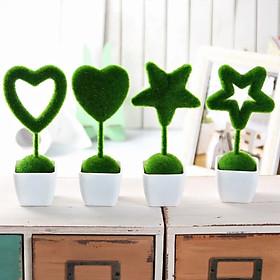 Bộ 4 chậu cây biểu tượng Tình yêu trang trí