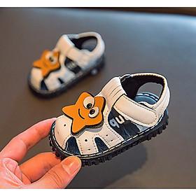 Giày sandal hình ngôi sao tập đi cho bé trai chống trượt phát tiếng kêu