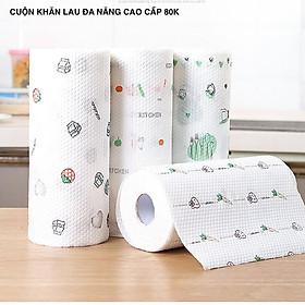 Cuộn giấy lau nhà bếp đa năng 220 tờ màu trắng siêu dai có thể giặt được