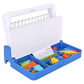 Deli (deli) 12 lines children's learning box students math counter multi-function computing arithmetic frame blue 74319
