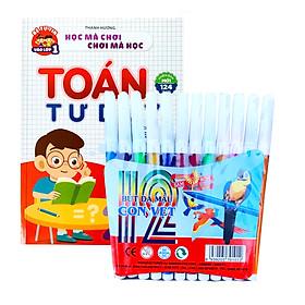 Bộ 12 Bút Màu Nước Kèm Sách Tô Màu Học Toán Cho Bé Tự Tin Vào Lớp 1