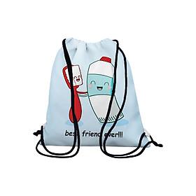 Túi Rút Unisex In Hình Tình Bạn Đánh Răng - BDFU502