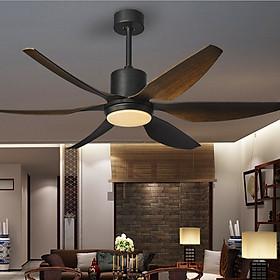 Quạt trần đèn 6 cánh sải dài 1m47 có điều khiển từ xa 5 tốc độ gió