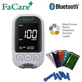 Máy đo Đường huyết, Mỡ máu, AxitUric 5 trong 1 Facare FC-M168 (TD-4216) bluetooth