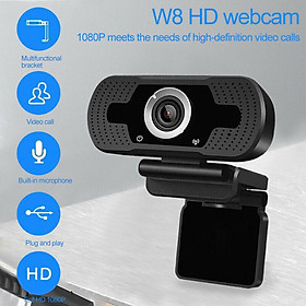 1080P Webcam with Microphone, HD PC Webcam Laptop Plug and Play USB Webcam Streaming Computer Web Camera for Video Calling Recording Conferencing