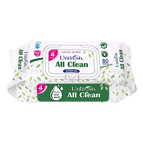 Khăn Ướt Unifresh All Clean 80M (80 Miếng)