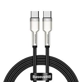 Cáp sạc siêu nhanh 100W Baseus Cafule Series Metal Data Cable Type-C to Type-C (100W) - Hàng Chính Hãng