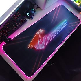 Mouse Pad, bàn di chuột, lót di chuột tích hợp Led RGB AORUS sáng viền, kích thước 80cm x 30cm dày 4mm - Hàng nhập khẩu
