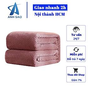 Mền lông cừu Thái Lan vân hạt bắp vải microfiber nặng 1.2 kg cao cấp A - mềm mại, ấm áp, kích thước 1m7x2m