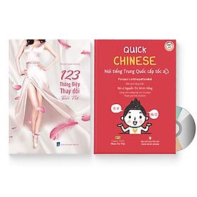 Combo 2 sách: Quick Chinese – Nói tiếng Trung Quốc cấp tốc (Trung – Pinyin – Việt) (Có Audio, CD nghe) + 123 Thông Điệp Thay Đổi Tuổi Trẻ (Trung giản thể – Pinyin – Việt – Trung phồn thể) (Có Audio nghe) + DVD quà tặng