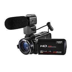 """Máy Quay Video Kỹ Thuật Số Di Động Andoer HDV-Z20 Max Với Màn Hình Cảm Ứng IPS (24 MP 16X 3.1"""" 1080P)"""