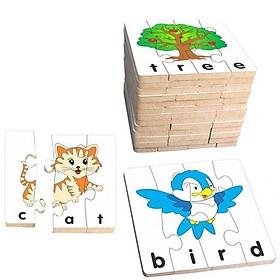 Bộ ghép hình học chữ tiếng anh 1 cho bé chơi mà học