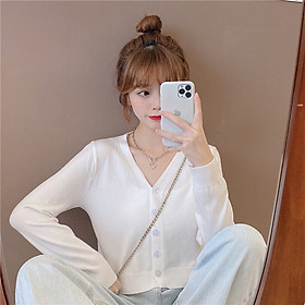 IELGY Early autumn temperament top long-sleeved sweater