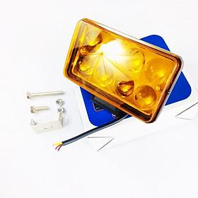 Đèn Trợ Sáng CYT Cảng 8 Bóng LED Pha Ánh Sáng Vàng Dành Cho Mô Tô, Xe Máy