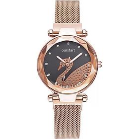 Đồng hồ thời trang nữ đeo tay dây từ nam châm thiên nga lấp lánh ZO94
