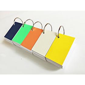 500 thẻ flashcard trắng cao cấp 5x8cm(góc vuông) tặng kèm 5 khoen+bìa cứng dày học ngoại ngữ